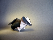 Origami Badger by Sebastien Limet (Sebl) on giladorigami.com