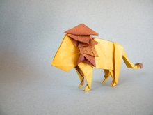 Origami Lion by Sergey Yartsev on giladorigami.com