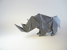 Origami White rhinoceros by Tong Liu (G.T. Liu) on giladorigami.com