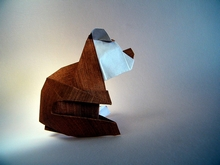 Origami Bear cub by Andres Lozano on giladorigami.com