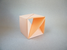 Origami Loophole cube by Jun Maekawa on giladorigami.com