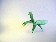Origami Praying mantis by Jun Maekawa on giladorigami.com
