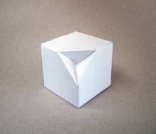 Origami Columbus cube by David Mitchell on giladorigami.com
