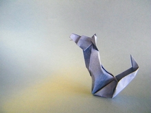 Origami Howling wolf by Angel Morollon Guallar on giladorigami.com