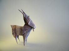 Origami Mountain Goat by Janessa Munt on giladorigami.com