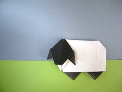Origami Blackface sheep by Tony O