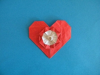 Origami Flowery heart by Francis Ow on giladorigami.com