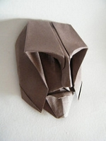Origami Achille mask by Franco Pavarin on giladorigami.com