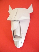 Origami Demon mask by Franco Pavarin on giladorigami.com