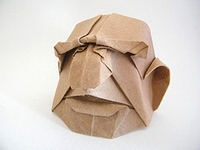 Origami Fat person mask by Franco Pavarin on giladorigami.com
