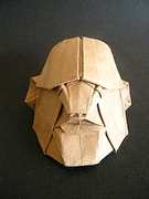 Origami Fugitive mask by Franco Pavarin on giladorigami.com