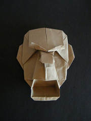 Origami Howling mask by Franco Pavarin on giladorigami.com