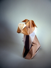 Origami Snowy the dog by Blanka Pentela on giladorigami.com