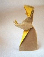 Origami Dutch girl by Fred Rohm on giladorigami.com