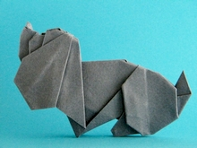 Origami Dog by Fred Rohm on giladorigami.com