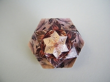 Origami Double star puff pyramid by Robin Scholz on giladorigami.com