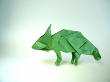 Origami Chameleon by Seo Won Seon (Redpaper) on giladorigami.com