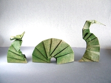 Origami Sea Serpent by Tom Stamm on giladorigami.com
