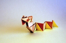 Origami Snake baby by Hsi-Min Tai on giladorigami.com