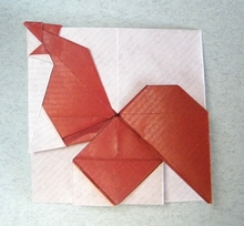 Origami Rooster by Nguyen Tu Tuan on giladorigami.com
