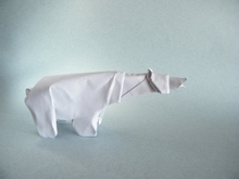 Origami Polar bear by Graciela Vicente Rafales on giladorigami.com