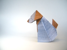 Origami Dog by Raymond P. Yeh on giladorigami.com