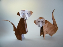 Origami Long tailed monkey by Raymond P. Yeh on giladorigami.com