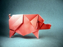 Origami Pig by Yoo Tae Yong on giladorigami.com