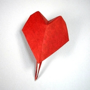 Origami Heart stick pin by David Shall on giladorigami.com
