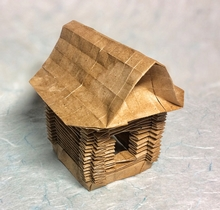 Origami Russian hut by Andrey Ermakov on giladorigami.com