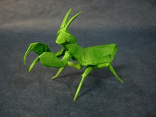 Origami Praying mantis by Sebastian Arellano on giladorigami.com