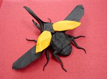 Origami Hercules beetle - flying by Shuki Kato on giladorigami.com
