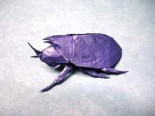 Origami Rhinoceros beetle by Jason Ku on giladorigami.com