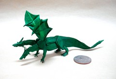Origami Two-headed dragon by Nham Van Son on giladorigami.com