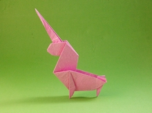 Origami Unicorn by Perry Bailey on giladorigami.com