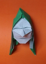 Origami Peasant mask by Sergio L. Guarachi Veliz on giladorigami.com
