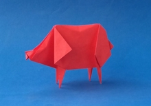 Origami Pig by Angel Morollon Guallar on giladorigami.com