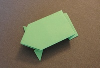 Origami Frog - jumping by Joel Stern on giladorigami.com
