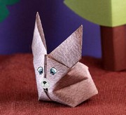 Origami Blow up bunny by Traditional on giladorigami.com