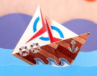 Origami Sailboat by Traditional on giladorigami.com