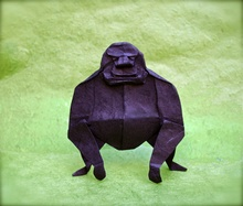 Origami Gorilla by Mark Bolitho on giladorigami.com