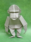 Origami Chimpanzee by John Montroll on giladorigami.com