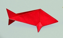 Origami Goldfish by John Montroll on giladorigami.com
