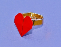 Origami Heart ring by Francis Ow on giladorigami.com