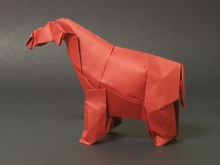 Origami Baluchitherium by John Szinger on giladorigami.com