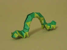 Origami Inchworm by John Szinger on giladorigami.com
