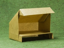Origami Lean-to by John Szinger on giladorigami.com
