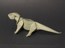 Origami Lizard by John Szinger on giladorigami.com