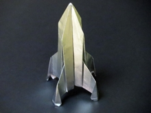 Origami Rocket ship III by John Szinger on giladorigami.com