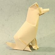 Origami Timber the dog by John Szinger on giladorigami.com